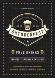 Oktoberfest beer festival poster or flyer template Royalty Free Stock Photos