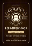 Oktoberfest beer festival poster or flyer template Stock Image