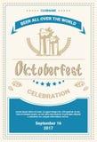 Oktoberfest Beer Festival Poster Holiday Decoration Banner Stock Image