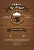 Oktoberfest Beer Festival Poster Holiday Decoration Banner Stock Images