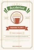 Oktoberfest Beer Festival Poster Holiday Decoration Banner Stock Photos