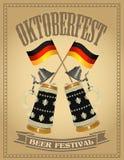 Oktoberfest beer festival poster Royalty Free Stock Image