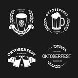Oktoberfest beer festival retro style labels badges logos and design elements. Vector vintage illustration. Royalty Free Stock Photography