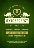 Oktoberfest beer festival typographic poster Stock Image