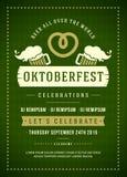 Oktoberfest beer festival typographic poster Stock Image