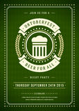 Oktoberfest beer festival typographic poster Royalty Free Stock Images