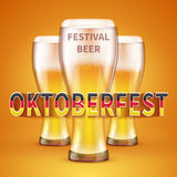 OKTOBERFEST BEER FESTIVAL. Vector background stock illustration