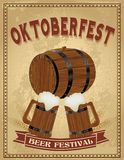 Oktoberfest beer festival vintage poster Stock Photo