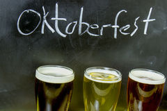 Oktoberfest beer flight Royalty Free Stock Photo