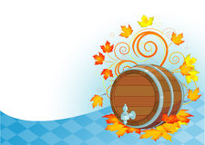 Oktoberfest beer keg. Decorative Oktoberfest design with beer wood keg Royalty Free Stock Image