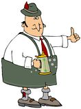 Oktoberfest Beer Man. This illustration depicts a man dressed in Bavarian attire carrying a beer stein Royalty Free Stock Images