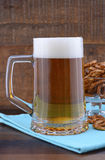 Oktoberfest beer and pretzels. Stock Photography