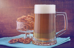 Oktoberfest beer and pretzels. Stock Image