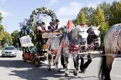 Oktoberfest Beercarriage Στοκ Φωτογραφίες