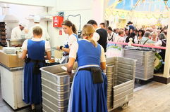 Oktoberfest, behind the scenes (2013) Royalty Free Stock Photography