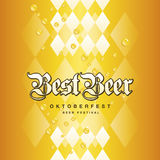 Oktoberfest Best Beer Bavarian gold yellow drops background. Vector Royalty Free Stock Photo