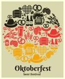 Oktoberfest-Bier-Festivalaufkleber Stockfotografie