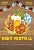 Oktoberfest-Bier-Festivalplakat Lizenzfreie Abbildung
