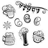 Oktoberfest, birra, ciambellina salata Immagine Stock Libera da Diritti