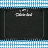 Oktoberfest Blackboard Centre Bavarian Stock Photos