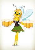 Oktoberfest Blonde Bee Royalty Free Stock Image