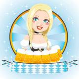Oktoberfest Blonde Cutie vector illustratie