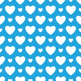 Oktoberfest blue background with white hearts. Royalty Free Stock Photos