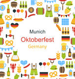 Oktoberfest Border Frame Royalty Free Stock Photos