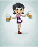Oktoberfest  brunette girl Stock Photography