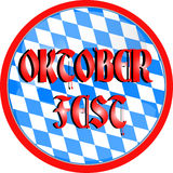 Oktoberfest button Royalty Free Stock Image