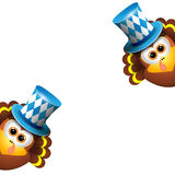 Oktoberfest Card Design Template Stock Images