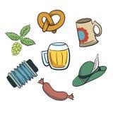 Oktoberfest Cartoon Elements. Stock Photography