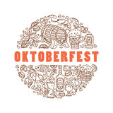 Oktoberfest Cartoon icons Royalty Free Stock Images