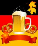 Oktoberfest Celebration Background Stock Photo