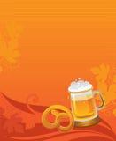 Oktoberfest celebration background. With beer Stock Image