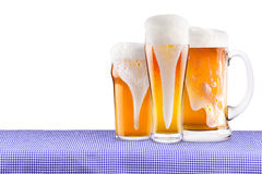 Oktoberfest Celebration Background with Beer Stock Photography