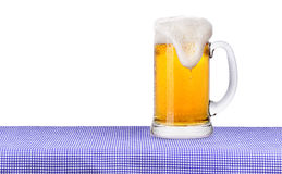 Oktoberfest Celebration Background with Beer Stock Image