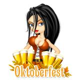 Oktoberfest celebration background Royalty Free Stock Image