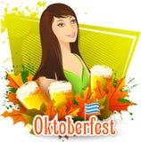 Oktoberfest celebration background. Illustration of Oktoberfest celebration background Stock Photo