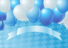 Oktoberfest Celebration Balloons. Vector Oktoberfest Celebration Balloons Background with Copy space Royalty Free Stock Images