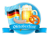 Oktoberfest celebration card Stock Images