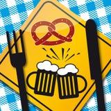 Oktoberfest celebration - Cheers. Oktoberfest celebration design - colorful illustration Royalty Free Stock Photos