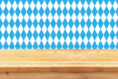 Oktoberfest celebration concept with old wooden empty table. for product display and presentation Stock Images