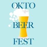 Oktoberfest celebration  design. Oktoberfest celebration background design  with beer glass Stock Photos