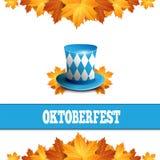 Oktoberfest celebration design with Bavarian hat. Vector illustration Royalty Free Stock Images