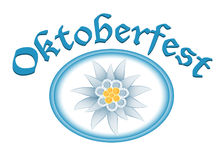 Oktoberfest celebration design with edelweiss Stock Photography
