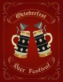 Oktoberfest celebration design. With german beer stein Stock Photos