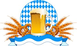 Oktoberfest Celebration  design. Round Oktoberfest Celebration design with beer and wheat ears Stock Photos