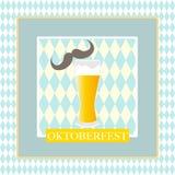 Oktoberfest celebration design. On textured background Stock Photos