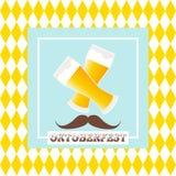 Oktoberfest celebration  design. On textured background Royalty Free Stock Image